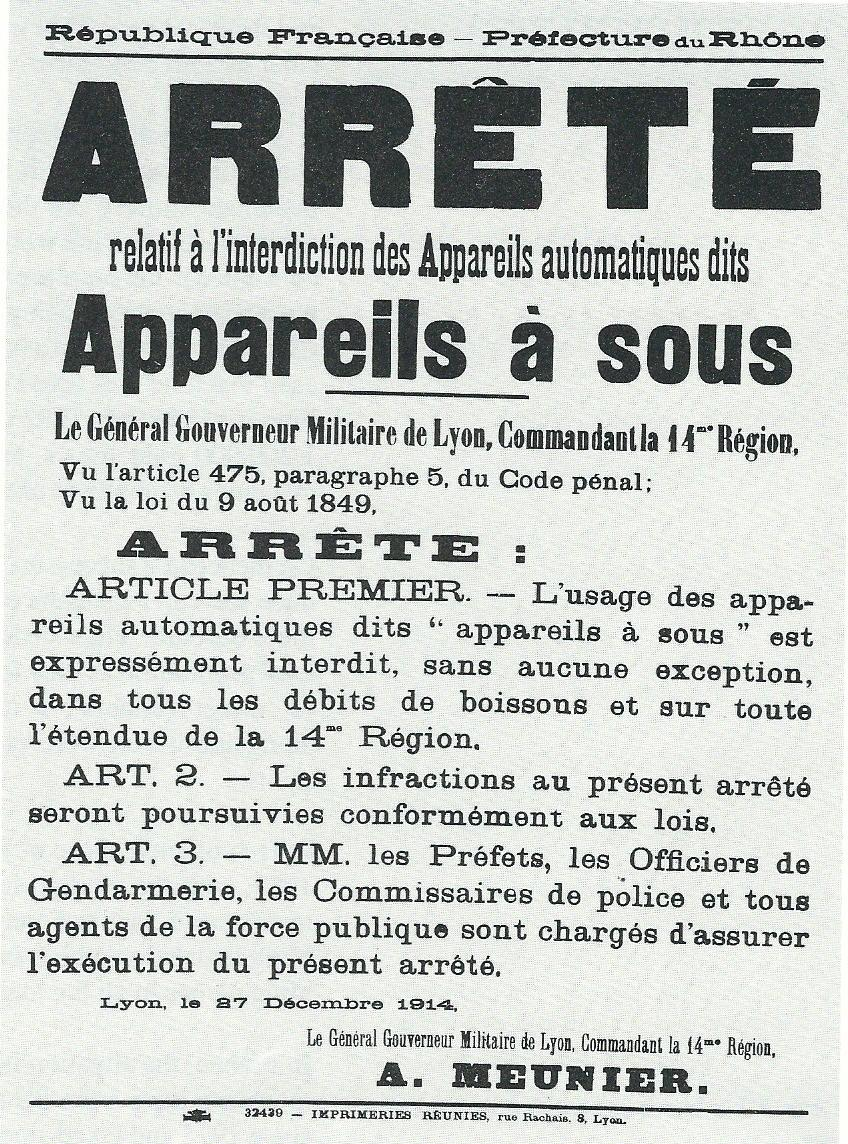 Notice by the French Government banning Slot Machines 1914.jpg
