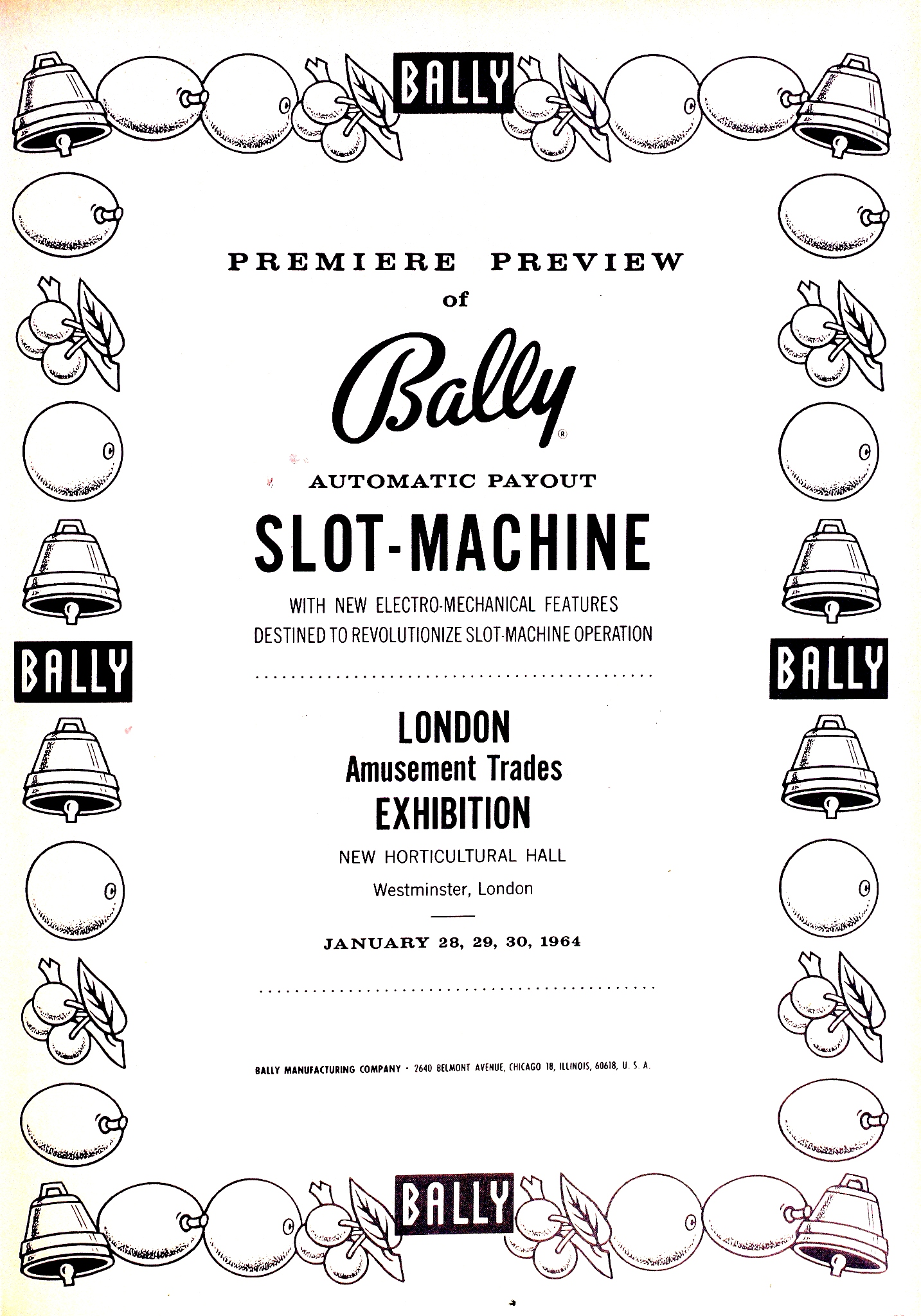 Bally first Money Honey add January 1964 London.jpg