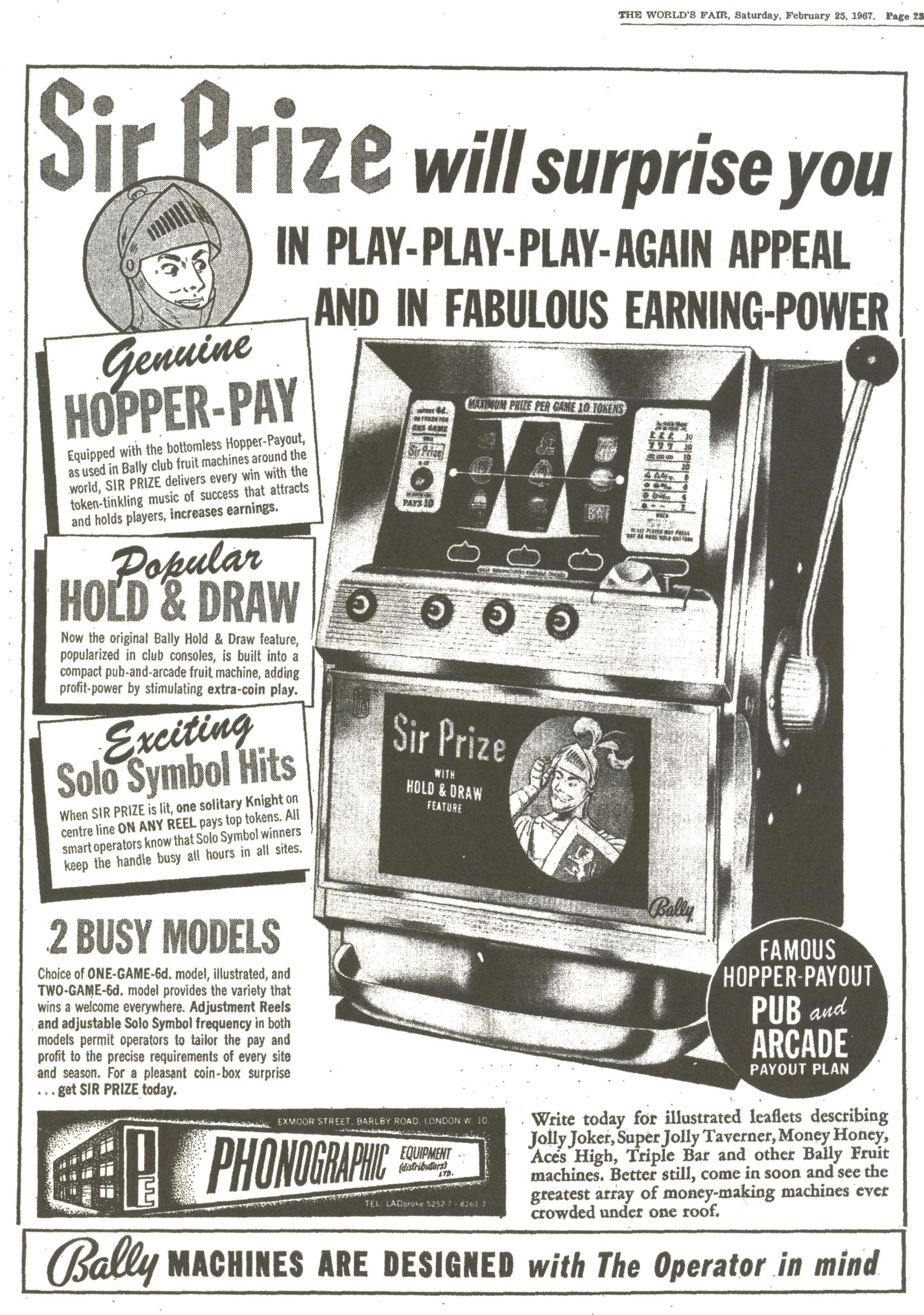 4. Bally Sir Prize English Pub Model add Feb 16th 1967.jpg